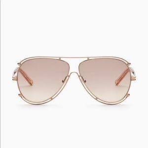 b28384b1e6cb Chloe Accessories - Chloe Rose Gold Isidora Aviator Sunglasses